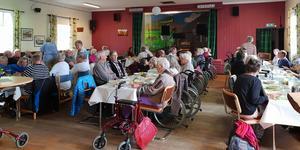 Göta och Leif Wessels stiftelse bjöd pensionärer i västra Härjedalen på lunch. Foto:Britt Bergkvist