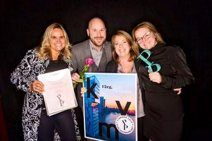 Det blev guld till Devocy i en av kategorierna under Publishingpriset. Från vänster: Ann Sandén Nordström, Johan Allard, Heidi Ekberg och Sofia Göth. Foto: Stina Stjernkvist.