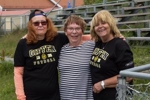 Birgitta Molin, Gunnel Nilsson och Elisabeth Eriksson har aldrig spelat fotboll innan de testade på gåfotboll.