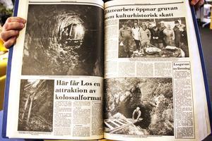 Den 23 oktober 1989 hade Ljusdals-Posten ett stort reportage om arbetet i Losgruvan, där Gunnar Hörberg skrev artiklarna och Stig Andersson fotograferade.