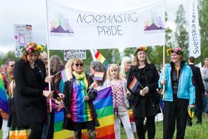 Henrik Estander och Johan Alexander Lindman besökte Nordanstigs första pride tidigare i år, för att lära och se hur de hade lagt upp sitt evenemang.