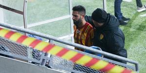 Isa Demir tvingades lämna planen i söndags med en befarad fotledsskada.
