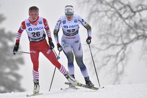 En liten skräll för Maja Dahlqvist var nä4 hon blev nia på 10 km fri teknik i Falun och slog Charlotte Kalla på just den distansen.