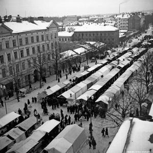Översiktsbild från 1940-talet. (Bild: Örebro stadsarkiv)
