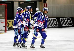 Jesper Eriksson, Johan Esplund och Joel Broberg gjorde alla tre bra matcher mot VSK. Arkivbild.