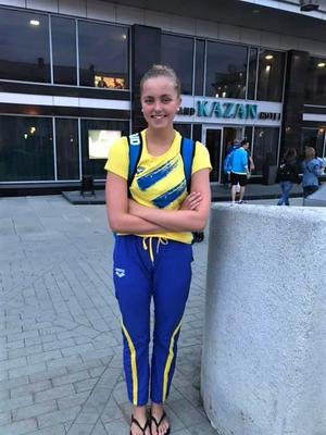 Edith Jernstedt satte ett nytt personligt rekord under junior-EM. Foto: Helena Persson/Västerås Simsällskap