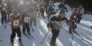 43 skidåkare deltog i Barnens Vasalopp i Lofsdalen.