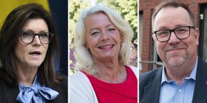 Eva Nordmark (S) arbetsmarknadsministerPia Nilsson (S) och  Olle Thorell (S), riksdagsledamöter  Västmanland.