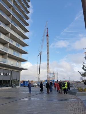 Nästa vecka påbörjas monteringen av stommen på 23-våningshuset.