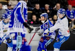 Gillgren i ett av säsongens möten med hans moderklubb Villa Lidköping. Bild: Adam Ihse / TT