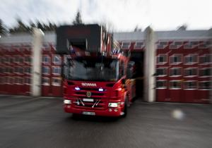 Räddningtjänsten larmades till en byggnad i närheten av Östergården.