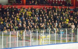 Supporterstödet i Bjorkängshallen var massivt.