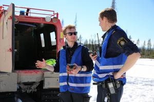 Räddningschef Johan Szymanski i Mora vid olyckan i Bergkarlås.