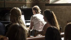 Pianospel av eleven Frida Andersson som fick Fagersta-Postens reporter att torka en tår i ögonvrån.