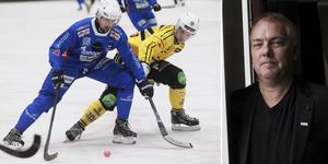 Vänersborg och Broberg möttes i en åttondelsfinal förra säsongen. Den andra spelades mellan Vetlanda och Motala. Ligachef Per Selin till höger.