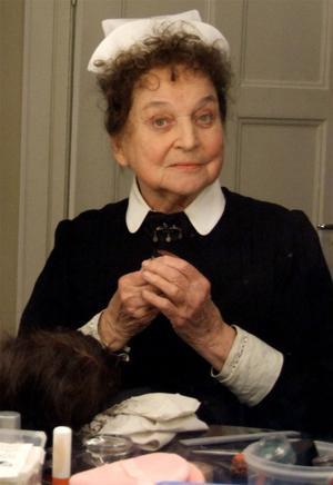 Margareta Hallin i rollen som Kristin i Fröken Julie, Salem Ramvik1993