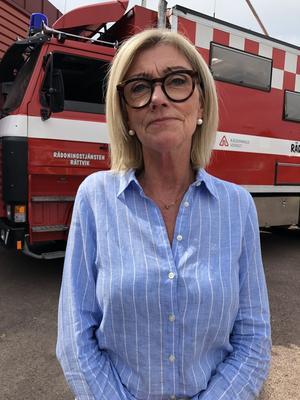 Älvdalens tillförordnade kommundirektör, Elisabeth Fransson. Foto: Lotta Andersson