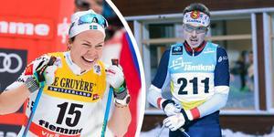 Emma Wikén och William Poromaa var snabbast av alla i Daniel Karlssons minne. Foto: TT/Hans Andersson