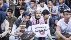 Manifestation för ensamkommande asylsökande på Medborgarplatsen i Stockholm. Foto: Lars Pehrson/SvD/TT