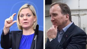 Finansminister Magdalena Andersson (S) och statsminister Stefan Löfven (S). Foto: Henrik Montgomery/TT