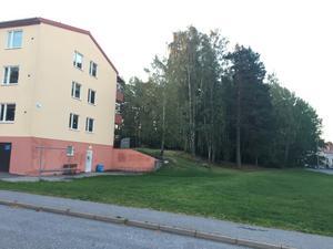 Kvarteret lekspaden i Järna är ett av de områden som föreslås förtätas. Här tänker sig Telge bostäder 25–30 lägenheter i ett hus på tre eller fyra våningar. Detaljplan väntas bli klar 2021–2022.