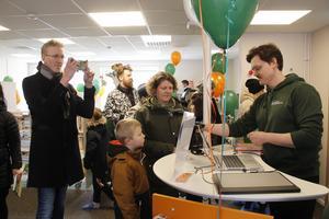 Invigningen av nya biblioteket på Hammarby i början av mars i år.