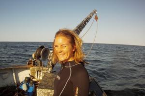 Kimberly Berglöf är utbildad marinbiolog inom fisk- och skaldjursodling och föreläser på inspirationsdagen om akvaponik den 14e Augusti.                                                                                               Foto: Privat