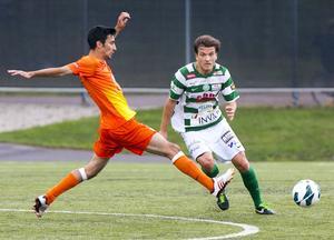 Efter fem år i Syrianska var Boris Ljevar tillbaka i den grönvita tröjan 2012. Här i en match mot AFC United. FOTO: Arkiv/Rune Jensen.