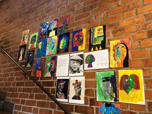 Pablo Picasso är en av de konstnärer som eleverna i klass 2A på Kyrkskolan har inspirerats av. Foto: Anneli Allen