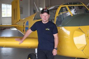 Magnus Borg är världsmästare i vintageflygning.