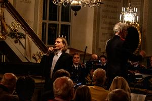 Barytonsångaren Martin Lissel bjöd på skönsång. Fotograf: Kenneth Andersson.