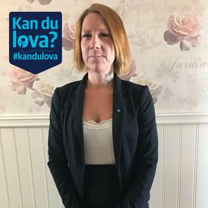 Sandra Bjelkelöv, första namn på valsedeln för Sverigedemokraterna.