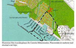Detaljplan 1645  för en annan del av hamnen vid Öster Mälarstrand. Här finns inget förbud mot att bo på båt.