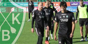 Anton Lundin eller Jonathan Lundbäck tampas om en anfallsplats mot Dalkurd på söndag.
