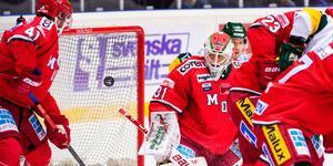 Linus Lundin var fullständigt briljant i Modo-kassen mot Björklöven. Bild: Erik Mårtensson/Bildbyrån