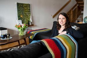 Kristin Nelvig gillar att möblera om och fixa i hemmet.