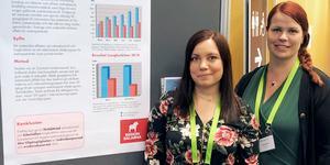 Distriktssköterskorna Maria Boström och Marie Persson på Vårdcentral Ludvika/Grängesberg kan vinna pris för sitt arbete med Astmakollen.  Foto: Region Dalarna