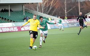 Jonathan Lundbäck i matchen mot IK Frej i våras.