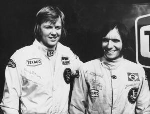 Stallkompisar för 44 år sedan. Ronnie Peterson och Emerson Fittipaldi tog hem märkes-VM för Lotus i F1  1973. Fittipaldi blev tvåa individuellt, Peterson trea.