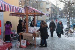 Julmarknad på Täljstenen.