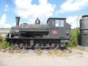 Ångloket Tyr kom till Bergviks industrimuseum 1976. Det rullade sträckan Askesta-Sandarne ända fram till 1965 med timmer på vagnarna.