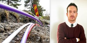 Fiberutbyggnaden i Tönnånger kommer snart igång, enligt Stadsnästbolagets vd Johan Sundberg.