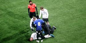 Fabio De Sousa skadade sig i träningsmatchen mot Sirius.