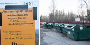 Den 5 april stänger återvinningsstationen i Saltskog på grund av dumpning och nedskräpning.