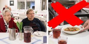 Karin Rydholm och Ethel Lindahl som tillsammans med Elwy Jakobsson är trogna lunchgäster på Balder tycker att det är väldigt tråkigt att gemenskapen försvinner.