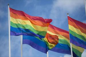 Regnbågsflaggor.