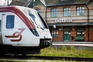Passagerare som ska åka från Fagersta C under torsdagen kan mötas av inställda tåg. Arkivbild.