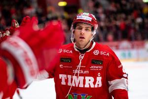 Palmberg i Timrå-tröjan förra säsongen. Bild: Pär Olert/Bildbyrån.