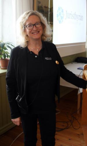 Mari Lundquist, jurist, besökte månadsmötet hos HjärtLung Bollnäs- Ovanåker i mars.