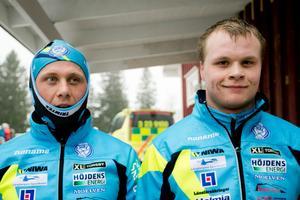 Bill och Jack Impola tillsammans i samband med SM i Ånnaboda 2015. Nu är båda klara för OS – som vallare. Arkivfoto: Lennart Lundkvist
